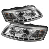 Spyder Audi A6 05-07 Projector Headlights Halogen Model Only - DRL Chrome PRO-YD-ADA605-DRL-C