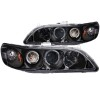 ANZO 1998-2002 Honda Accord Projector Headlights w/ Halo Black