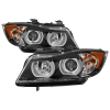 Spyder BMW E90 3-Series 06-08 4DR V2 Headlights - HID Only - Black PRO-YD-BMWE9005V2-HID-DRL-BK