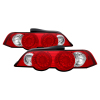 Spyder Acura RSX 02-04 LED Tail Lights Red Clear ALT-YD-ARSX02-LED-RC