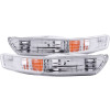 ANZO 1998-2001 Acura Integra Euro Parking Lights Chrome w/ Amber Reflector