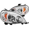 ANZO 1997-2001 Mercedes Benz M Class Projector Headlights w/ Halo Chrome (CCFL) G2