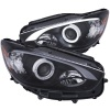 ANZO 13-14 Mazda CX-5 Projector Headlights w/ Halo Black w/ Amber