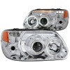 ANZO 1995-2001 Ford Explorer Projector Headlights w/ Halo Chrome 1 pc