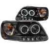 ANZO 1997-2003 Ford F-150 Projector Headlights w/ Halo Black (CCFL)