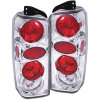 ANZO 1997-2001 Jeep Cherokee Taillights Chrome