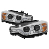 Spyder 12-14 BMW F30 3 Series 4DR Projector Headlights - LED DRL - Chrome (PRO-YD-BMWF3012-DRL-C)