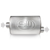 Stainless Works 2.25in ID CENTER INLET/ 2.25in OD OFFSET OUTLET 4inX8in