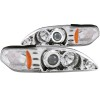 ANZO 1994-1998 Ford Mustang Projector Headlights w/ Halo Chrome 1pc