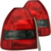 ANZO 1996-2000 Honda Civic Taillights Red/Smoke