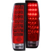 ANZO 1986-1997 Nissan Hardbody LED Taillights Red/Clear