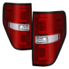 Spyder 09-14 Ford F150 V2 Light Bar LED Tail Lights - Red Clear (ALT-YD-FF15009V2-LBLED-RC)