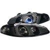 ANZO 1995-1996 Mitsubishi Eclipse Projector Headlights w/ Halo Black G3