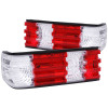 ANZO 1986-1991 Mercedes Benz S Class W126 Taillights Red/Clear
