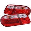 ANZO 1996-2002 Mercedes Benz E Class W210 LED Taillights Red/Clear
