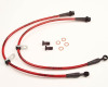 AP Chevrolet 10-13 Camaro Rear Stainless Steel Briaded Brake Lines
