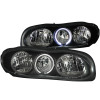 ANZO 1998-2002 Chevrolet Camaro Crystal Headlights w/ Halo Black