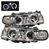 Spyder BMW E38 7-Series 99-01 Projector Headlights 1PC Xenon LED Halo Chrm PRO-YD-BMWE3899-HID-HL-C