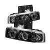 Spyder Chevy Astro 95-05/GMC Safari 95-05 Projector Headlights LED Halo Black PRO-YD-CA95-HL-BK