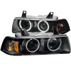 ANZO 1992-1998 BMW 3 Series E36 Projector Headlights w/ Halo Chrome (CCFL) G2