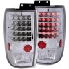 ANZO 1997-2002 Ford Expedition LED Taillights Chrome