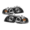 Spyder BMW E46 3-Series 00-03 2DR 1PC Projector Headlights LED Halo LED Blk PRO-YD-BMWE46-2D-HL-BK