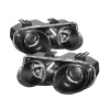 Spyder Acura Integra 98-01 Projector Headlights LED Halo -Black High H1 Low 9006 PRO-YD-AI98-HL-BK