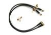 AP 02+ 350Z Front Standard Steel Braided Brake Lines