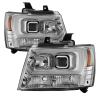 Spyder 07-14 Chevy Suburban/1500/2500/Tahoe V2 Projector Headlights Chrome PRO-YD-CSUB07V2-DRL-C