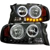 ANZO 1997-2004 Dodge Dakota Projector Headlights w/ Halo Black 1 pc