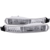 ANZO 1992-1993 Honda Accord Euro Parking Lights Chrome