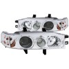 ANZO 1990-1993 Honda Accord Projector Headlights w/ Halo Chrome 1pc