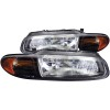 ANZO 1996-2000 Chrysler Sebring Crystal Headlights Black