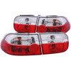 ANZO 1992-1995 Honda Civic Taillights Red/Clear