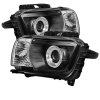 Spyder Chevy Camaro 10-13 Projector Headlights Dual Halo LED Halo Blk High/ PRO-YD-CCAM2010-HL-BK