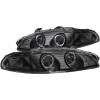 ANZO 1997-1999 Mitsubishi Eclipse Projector Headlights w/ Halo Black G2