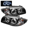 Spyder BMW E87 1-Series 08-11 Projector Headlights LED Halo Black High H1 Low H7 PRO-YD-BMWE87-HL-BK