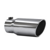 JAMO 4in In - 5in Out - 12in Length Stainless Steel Rolled Polished Tip
