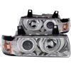 ANZO 1992-1998 BMW 3 Series E36 Projector Headlights w/ Halo Chrome G2 1 pc