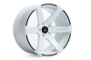 Cosmis Racing S1 White w/ Milled Spokes 18x10.5 +5mm 5x114.3 Wheel