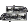 ANZO 1998-2005 Chevrolet S-10 Crystal Headlights Chrome