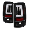 Spyder 00-06 GMC Yukon/Yukon XL V2 Light Bar LED Tail Lights - Black (ALT-YD-CD00V2-LBLED-BK)