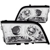 ANZO 1994-2000 Mercedes Benz C Class W202 Projector Headlights Chrome