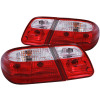 ANZO 1996-2002 Mercedes Benz E Class W210 Taillights Red/Clear G2