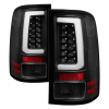 Spyder 07-13 GMC Sierra 1500 V2 Light Bar LED Tail Lights - Black (ALT-YD-GS07V2-LBLED-BK)