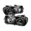 Spyder Acura Integra 94-97 Projector Headlights LED Halo -Black High H1 Low 9006 PRO-YD-AI94-HL-BK