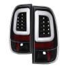 Spyder 08-16 Ford Super Duty F-250 V3 Light Bar LED Tail Lights - Black (ALT-YD-FS07V3-LBLED-BK)