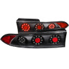 ANZO 1995-1999 Mitsubishi Eclipse LED Taillights Black 3pc
