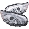 ANZO 13-14 Mazda CX-5  Projector Headlights w/ Halo Chrome w/ Amber