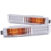 ANZO 1990-1991 Honda Accord Euro Parking Lights Chrome w/ Amber Reflector